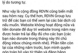 RDVN đóng cửa và nguyên do ở đâu?   RDVN   Thị Trấn Buồn Tênh