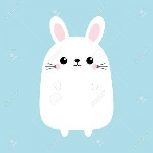 Con thỏ trốn sau cửa kính